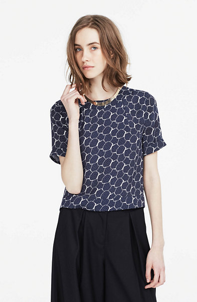 Printed Boxy Blouse