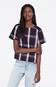 Plaid Cropped Tee