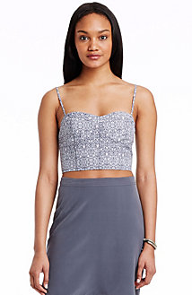 Ditsy Print Crop Top