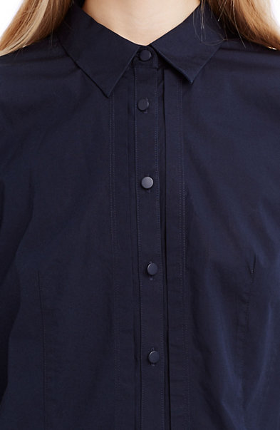 Pleated Poplin Shirt