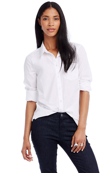 Cotton Poplin Beau Shirt