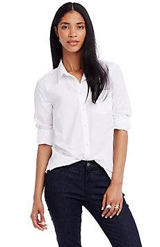Cotton Poplin Beau Shirt