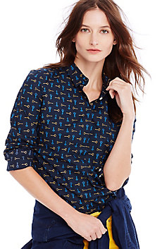Tailored Key Print Shirt