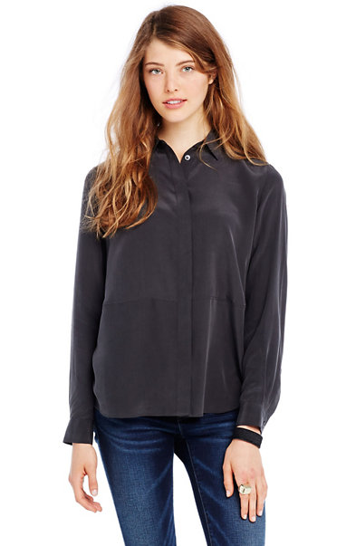 Silk Seamed Shirt
