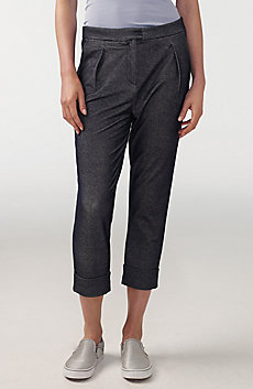 Denim Jersey Pleated Pant