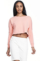 Cropped Drop Shoulder Sweatshirt