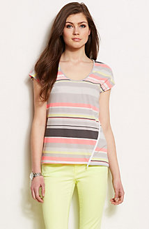 Short Sleeve Striped Top<br>Online Exclusive
