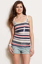 Striped Sequin Tank
