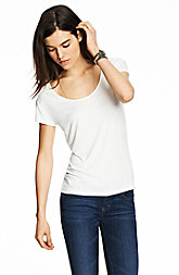 Short Sleeve Viscose Scoopneck Top