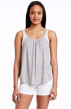 Printed Ruched Tank