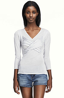 Long Sleeve Ruched Contoured Top<br> Online Exclusive