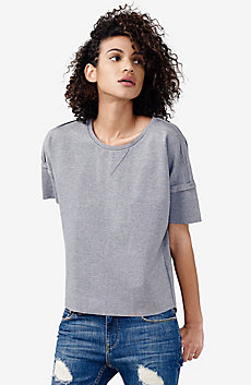 Short-Sleeve Sweatshirt Top