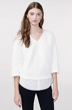 Double Layer Knit Sweatshirt