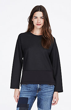 Pieced Jacquard Sweatshirt