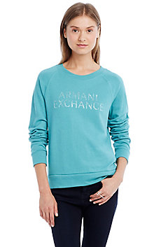 Stone Logo Raglan Sweatshirt