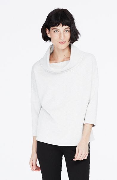 Pieced Funnelneck Sweater