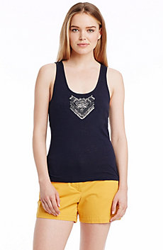 Embellished Scoop Neck Tank