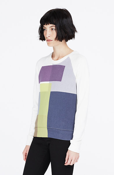 Printed Block Sweatshirt