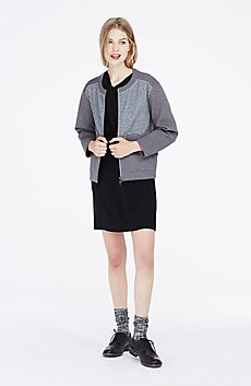 Sporty Jacquard Jacket