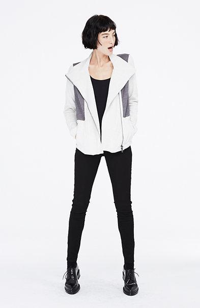 Pieced Asymmetrical Jacket