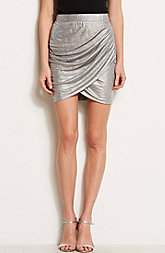 Draped Metallic Mini