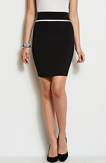Zippered Ponte Skirt