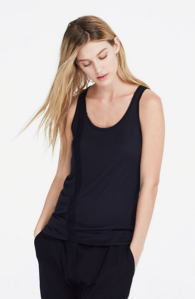 Ribbed Panel Tank Top