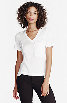 Seamed Jersey Pocket Tee