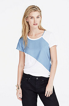 Chambray Striped Tee