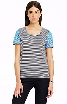 Stripe Chambray Back Top