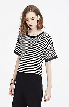 Spliced Stripe Top