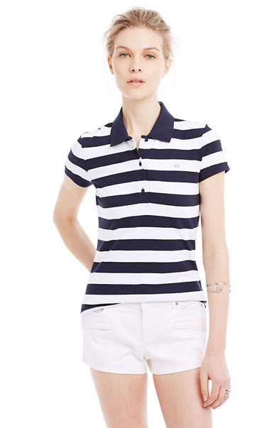 A|X Stripe Detail Polo