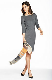 Long Sleeve Body Con Dress<br>Online Exclusive