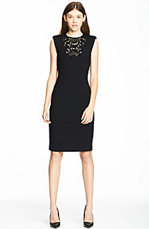 Embellished Sheath Dress<br> Online Exclusive