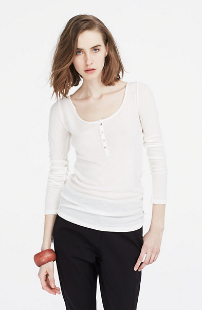 Ribbed Whisper Henley