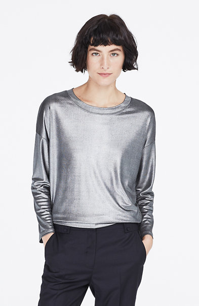 Foiled L/S Top