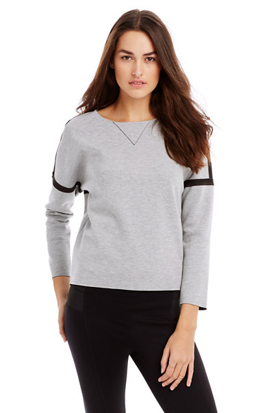 Bonded Jersey Sweat Top