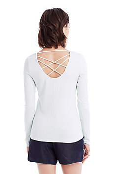 Crisscross Scoop Top