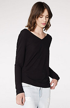 Double-V Drape Top
