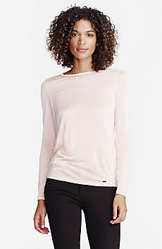 Long-Sleeve Sleek Jersey Top