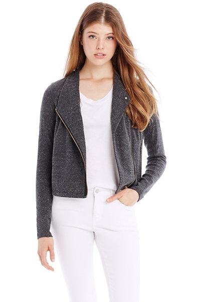 Heathered Moto Jacket