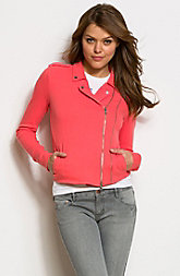 Fleece Moto Jacket