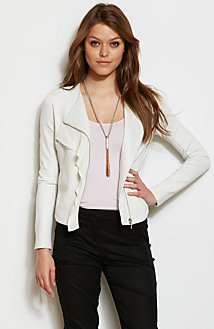 Ruffled Ponte Jacket