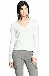 Essential Striped V-neck Pullover