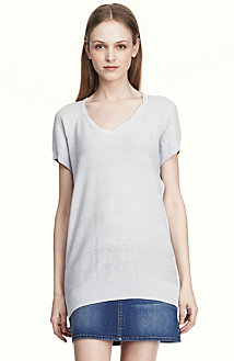 Short Sleeve Textured Tunic