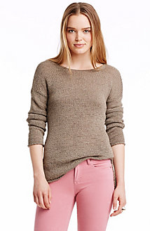 Textured Boatneck Sweater