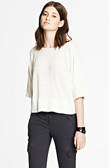 Cropped Slub Top