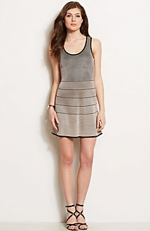 Paneled Sweater Dress