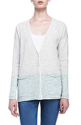 Colorblock Marled Cardigan