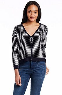 Stripe Sheer Back Cardigan